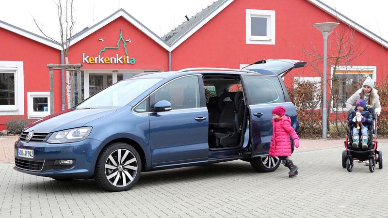 Reisen mit Kindern - Der Sharan macht die Reise komfortabel