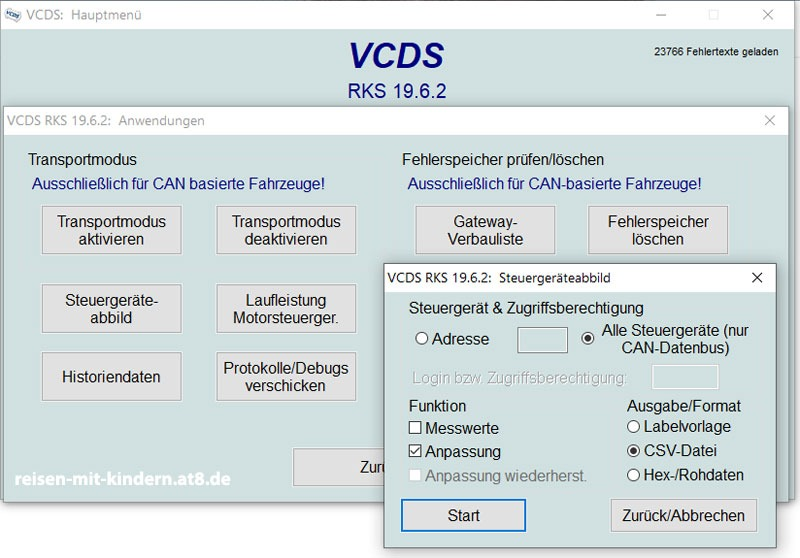 VCDS - ein komplettes Steuergeräteabbild erstellen