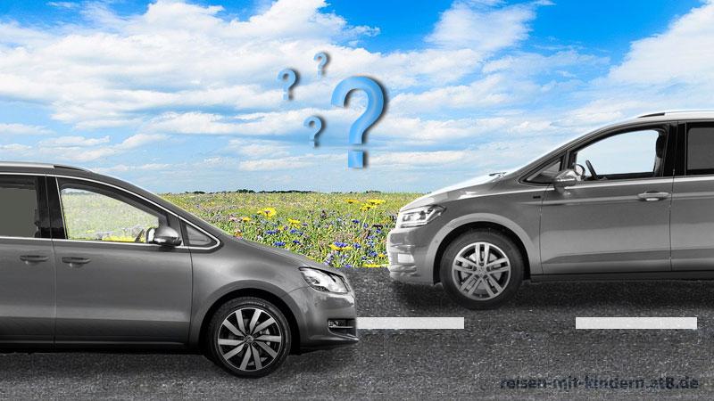 VW Touran 5T vs. VW Sharan 7N? Welches ist das bessere Auto für Familien mit 3 Kindern?